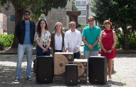 entrega donación equipos audio
