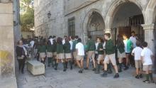 Evacuando el colegio