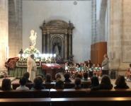 Rezando a la Virgen del Rosario